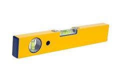 Herramienta de la precisión: un nivel amarillo Imagenes de archivo
