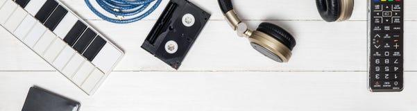 Herramienta de la producción de la música en tono del vintage Imagenes de archivo