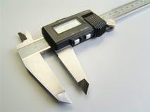 Herramienta de medición a vernier Foto de archivo libre de regalías