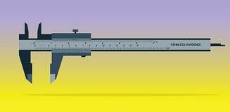 Herramienta del calibrador a vernier en fondo del color Imagen de archivo