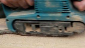 Herramienta eléctrica para acepillar la madera almacen de metraje de vídeo