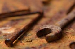 Herramienta oxidada Imagen de archivo
