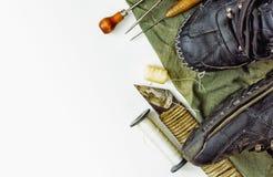 Herramienta para la reparación de los zapatos y la reparación de los zapatos Imagenes de archivo