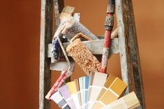 Herramienta para los pintores Foto de archivo libre de regalías