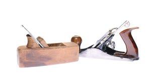 Herramientas antiguas de la carpintería Imagen de archivo