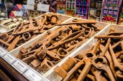 Herramientas belgas del chocolate Fotografía de archivo