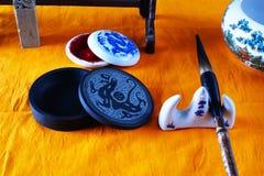 Herramientas chinas de la escritura para Foto de archivo