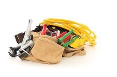 Herramientas con el cable eléctrico Imagenes de archivo
