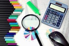 Herramientas de análisis estadístico Imágenes de archivo libres de regalías