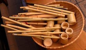 Herramientas de bambú foto de archivo