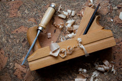 Herramientas de carpintero Imagen de archivo libre de regalías