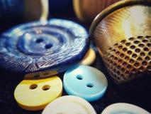 Herramientas de costura Imágenes de archivo libres de regalías