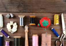 Herramientas de costura Imagen de archivo