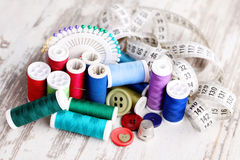 Herramientas de costura Fotos de archivo