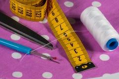 Herramientas de costura individuales Foto de archivo libre de regalías