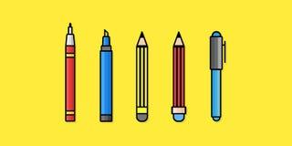 Herramientas de dibujo Imagenes de archivo
