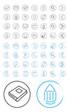 Herramientas de dibujo del icono Fotos de archivo libres de regalías
