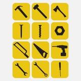 herramientas de funcionamiento Fotografía de archivo libre de regalías