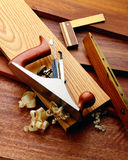 Herramientas de funcionamiento de madera Imagen de archivo