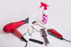 Herramientas de Hairstyling fotos de archivo libres de regalías