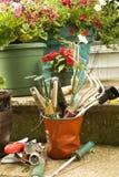 Herramientas de jardín Imagen de archivo libre de regalías