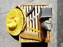 Herramientas de la abeja imagenes de archivo