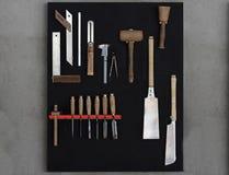 Herramientas de la artesanía en madera imagen de archivo libre de regalías