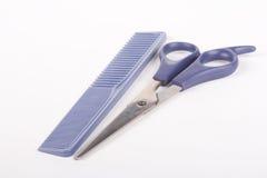 Herramientas de la barbería Foto de archivo libre de regalías