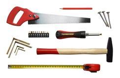 Herramientas de la carpintería Fotos de archivo