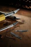 Herramientas de la carpintería Fotos de archivo libres de regalías