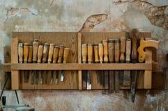 Herramientas de la carpintería Imagen de archivo libre de regalías