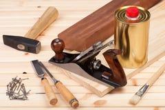 Herramientas de la carpintería Fotografía de archivo