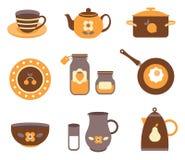 Herramientas de la cocina del vector Fotos de archivo