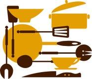 Herramientas de la cocina para cocinar y freír -2 Fotografía de archivo libre de regalías