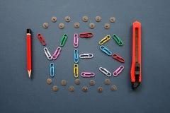 Herramientas de la escritura. Fotografía de archivo libre de regalías