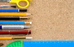 Herramientas de la escuela y de la oficina Fotos de archivo