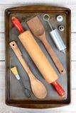 Herramientas de la hornada de la galleta Imagen de archivo libre de regalías