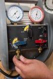 Herramientas de la HVAC del reparador de la manitas Imagen de archivo libre de regalías