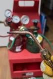 Herramientas de la HVAC del reparador de la manitas foto de archivo