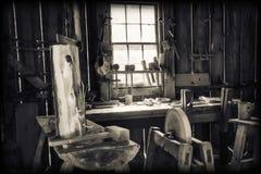 Herramientas de la industria de la madera de construcción foto de archivo libre de regalías