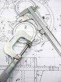 Herramientas de la ingeniería Foto de archivo