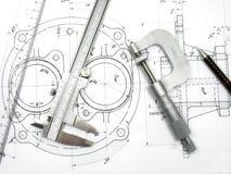 Herramientas de la ingeniería Foto de archivo libre de regalías