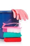 Herramientas de la limpieza Imágenes de archivo libres de regalías