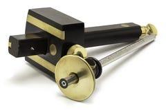 Herramientas de la mano de la carpintería - indicadores de marca Fotografía de archivo
