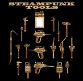 Herramientas de la mano de Steampunk Foto de archivo libre de regalías