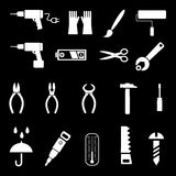 Herramientas de la mano - iconos del vector Foto de archivo libre de regalías