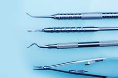Herramientas de la odontología Imagen de archivo libre de regalías