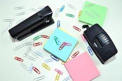 Herramientas de la oficina Imagen de archivo libre de regalías