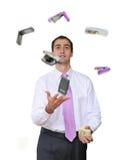 Herramientas de la oficina que hacen juegos malabares Fotografía de archivo libre de regalías