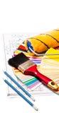 Herramientas de la pintura Imagen de archivo libre de regalías